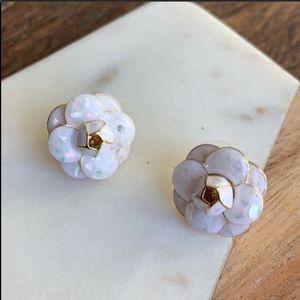 White Tea Flower Earrings